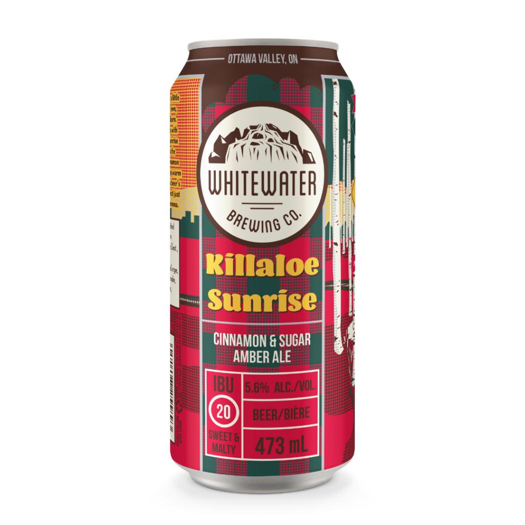 Image of a can of Killaloe Sunrise Cinnamon & Sugar Amber Ale.